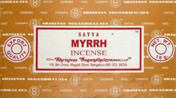 Encens satya Myrrh 15g