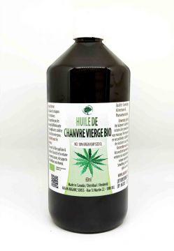 Huile végétale de Chanvre Bio 1000ml