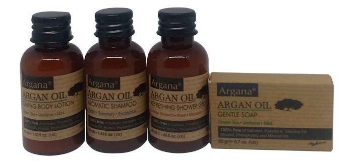 Pack de 4 produits de Présentation Azbane Gamme Azbane ARGANA (pour Hôtellerie)