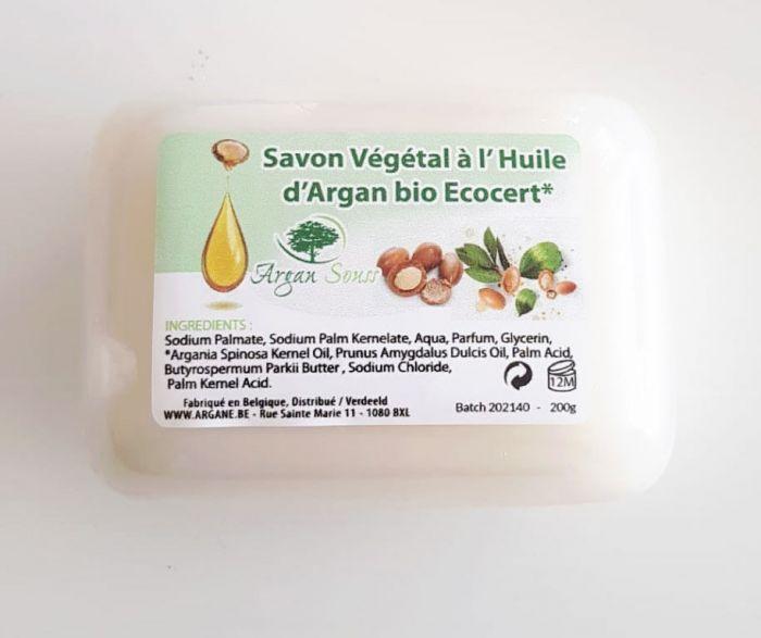 Savon naturel à l'huile d'argan Bio 200 gr
