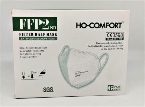 Masque FFP2 HO CONFORT CE 0598 Boite de 6