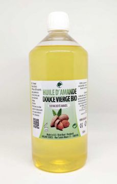 HUILE VEGETALE AMANDE DOUCE VIERGE BIO 1000 ML