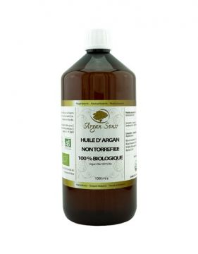 1 Litre huile d' Argane Bio vierge non Torréfiée cosmétique