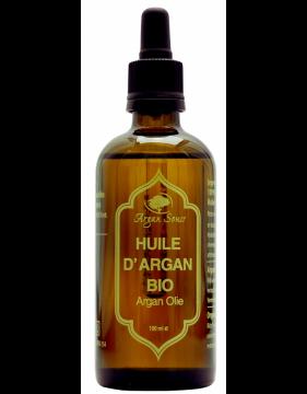 Huile d' argan vierge non torréfiée bio 100 ml