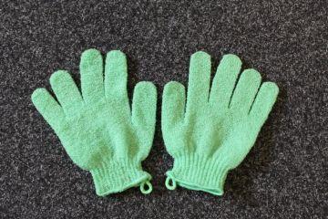 Gant Exfoliant vert