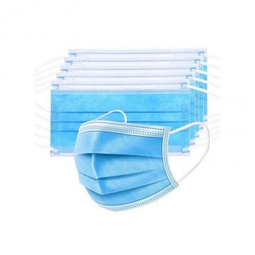 Masque facial jetable (paquet de 50) Disposable 3 - Layer Mask