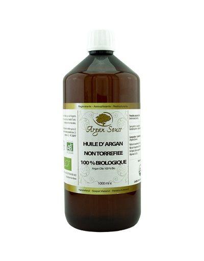 1 Litre huile d Argan Vierge Bio non torréfiée certifiée bio