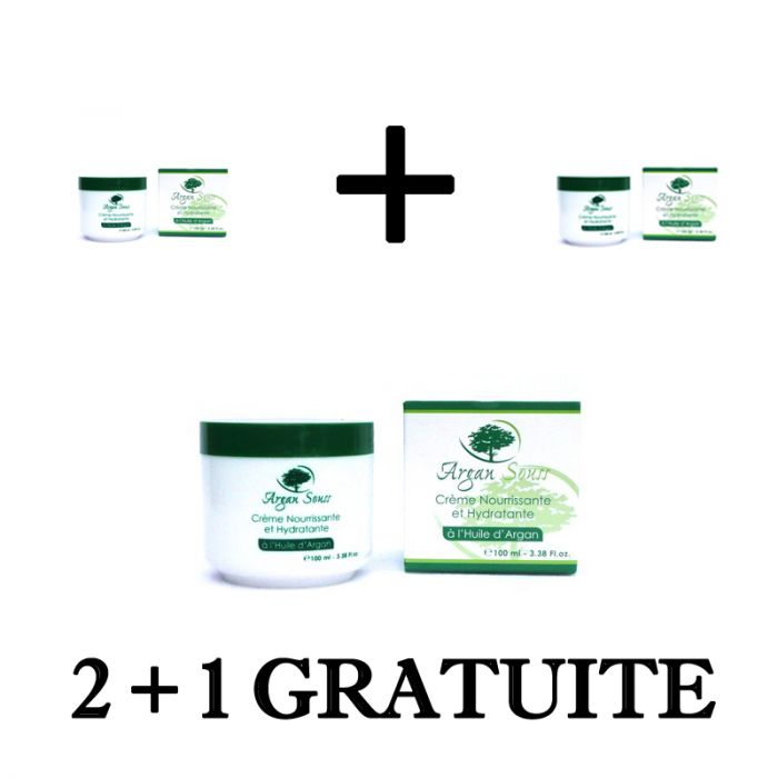 2 + 1 GRATUIT CRÈME DE SOIN NOURRISSANTE ARGAN 100 ML