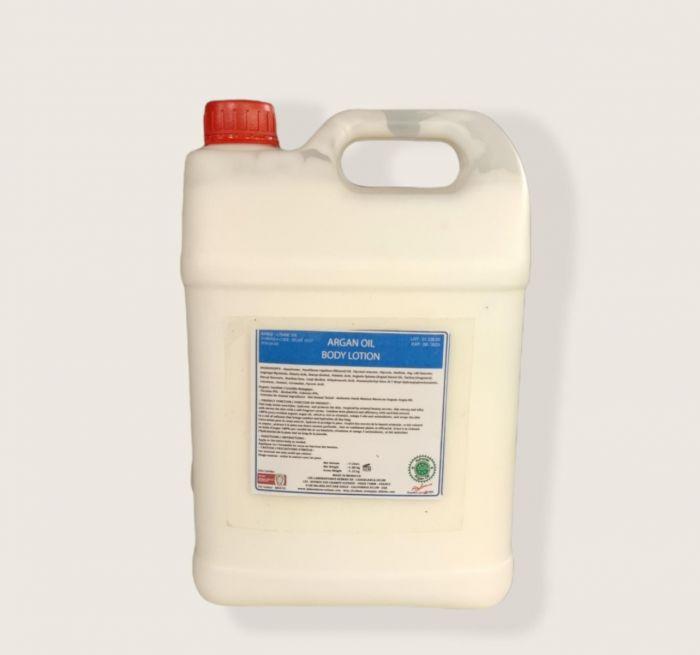 LAIT LOTION CORPORELLE A L ARGAN Et FLEUR ORANGER VRAC 5000 ml
