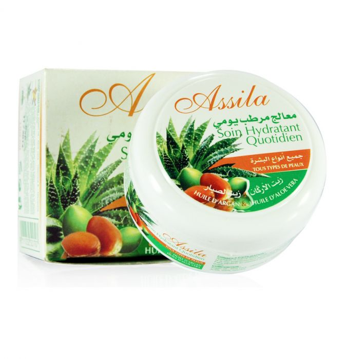 Crème Argan & Aloe vera assila 100 gr