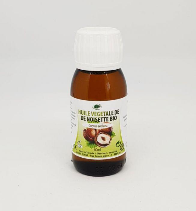 Huile végétale de noisette bio 60ml