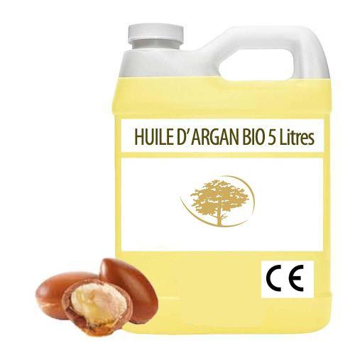 5 LITRES HUILE D' ARGAN VIERGE BIO VRAC