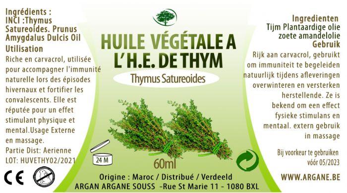 HUILE VEGETALE A l' H.E. DE THYM 60 ML