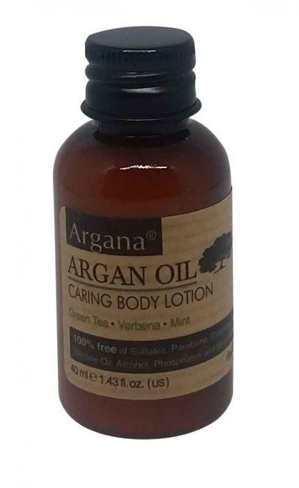 Lotion corporel a l' huile d' argan, thé vert, Verveine, Menthe 40ml