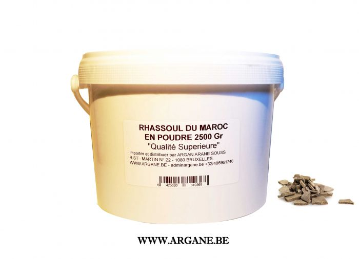 GHASSOUL ARGILE NATURELLE RHASSOUL PULVERISE 2500Gr