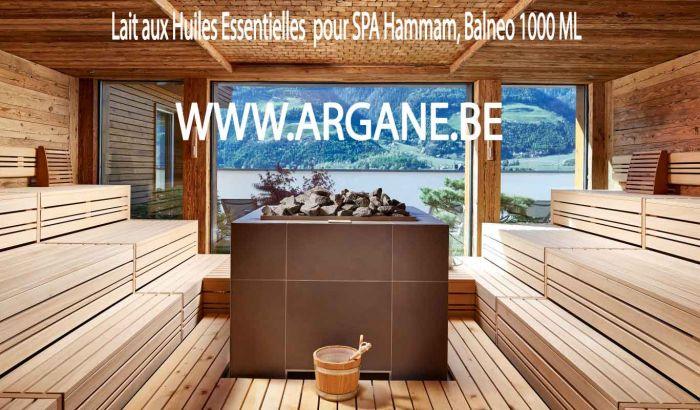 Lait aux Huiles Essentielles d' eucalyptus menthe pour SPA Hammam, 1 litre