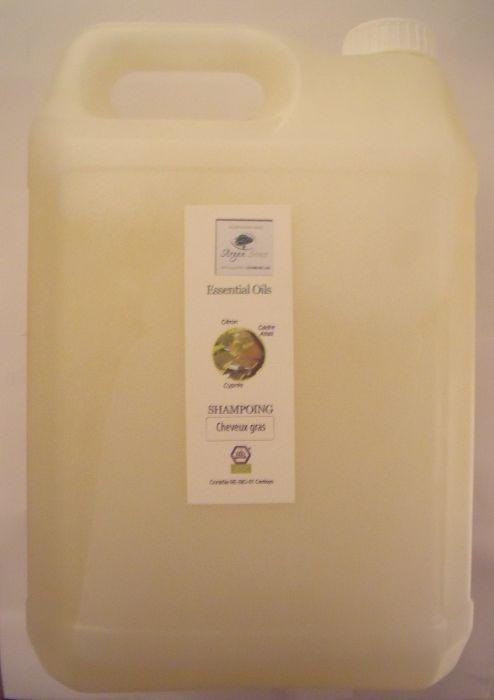 Shampoing cheveux gras bio aux huiles essentielles 5000 ml